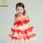 Kids party flower girl net designs teenage fashion design small girls dress for 2 to 14 years old