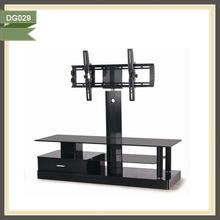 modern black glass tv showcase designs wood furniture tv stand