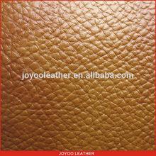 PVC faux leather, brown litchi pvc leather