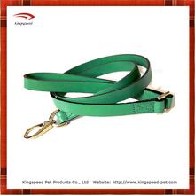Kelly Green Leather Dog Leash