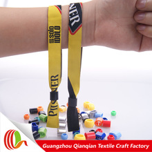 Hot Sale Ticket Printed Ribbon Bracelet Wristband Printing Unique Numbers For Music Festival