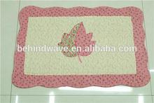 Applique Leaf Cotton Rugs Carpet