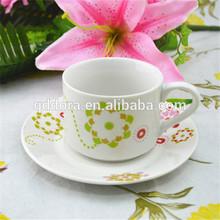 Bulk Ceramic Coffee Mugs and Saucer Set,wholesale cheap Coffe or tea suit set