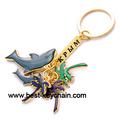 Recuerdo encanto de metal delfín magia de epoxy anillo llave( bk52462b)
