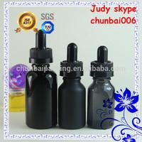 HOT SALES!!!30ml solid black 15ml frosted black/15ml transparent black e-liquid glass dropper bottles