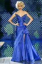 Custom Made Royal Blue Satin Zuhair Murad Celebrity Evening Dresses