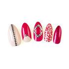designer press on nails Elegant red artificial nails