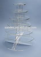 Clear 7 Tiers Circle Acrylic Cupcake Display Tray