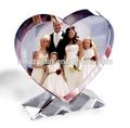 Coração de cristal moldura para decoração de casamento MH-L0390