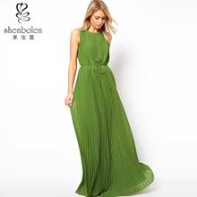 2014 summer latest bohemian clothing chiffon women maxi dress China supplier OEM