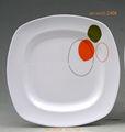 U- 2408-- u- 2410 melanine placa louça/prato para o alimento