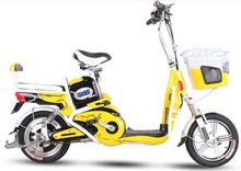 New model yellow color cool electric scooter 350W 48V 12AH battery