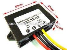 Dc démissionner convertisseur 24v à 12v 5a/60w régulateur de tension alimentation audio de voiture