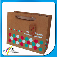 Brown paper packaging bag for photo frame hot seal on alibaba