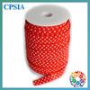 Christmas Red White Polk Dots Women Type Elastic Material Girl bow hair elastic band rolls 100 yards/ roll