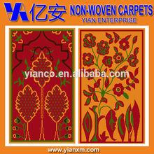 Non-woven cheap original design muslim prayer mat