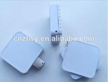 bulk cheap gift white square swivel plastic usb drive,Free logo mini plastic pendrive1gb to 64gb, wholesale price usb stick