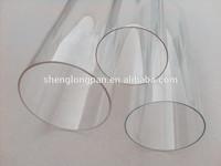 Transparent hard acrylic/pmma/plexiglass tube for lighting