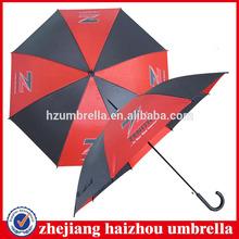 24''x8k red and black rain and straight umbrella,good price steel frame straight umbrella