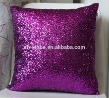 Super Shine Sequins Pillow Case Cushion Cover Purple