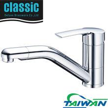 single handle chrome kitchen faucet