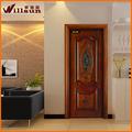 teca de madera maciza puerta de diseño para el chalet