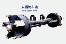 semi-trailer square shape axle track:1850mm FUWA BPW Series spoke axle series