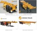 2 ou 3 essieux squelette / / semitrailer pour 20ft ou 40 ft conteneur semi remorque