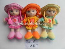 Delicado del algodón hermosa muñeca de trapo para las niñas/nuevo lindo muñeca de trapo/muñeca de trapo paño siesta de peluche muñecas de trapo