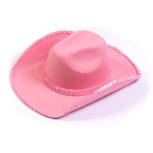 2014 new happy birthday hat Pink Cowboy Hat with sequins