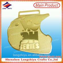 Sandy & polishing effect casting wholesale miraculous medal custom medal