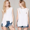 ladies fancy sleeveless tops womens lace 100 cotton sleeveless tops for women