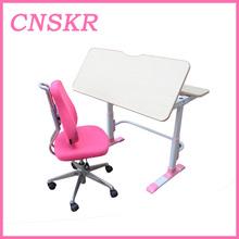 Adjustable household Novel india college student desk and chair SKR-02