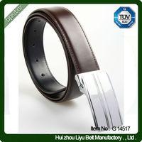 Top Quality Plain Leather Hook Belt for Men