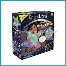 Fashion Popular Cartoon Star Shape Bright Light LED Light Up Pillow