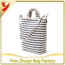 New Duck Sailor Stripe Cotton Enlarge Tote Bag