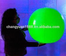 Glowing beach ball LED flashing PVC ball