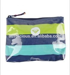 Best selling zabra PVC coating beach bikini bag wet bikini bag