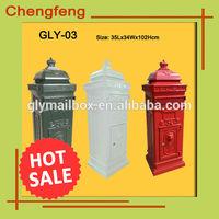 aluminum letterbox for post