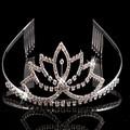Venda quente meia de cristal simples meninas senhoras strass decoração tiara