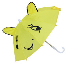 New style hot selling kids umbrella curved handle