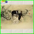 famosas pinturas de animais de cão adorável em telhas de cerâmica para a sala de jantar