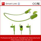 2014 hot selling fashional style cheap colorful logo earphone invisible bluetooth earpiece mini earphone