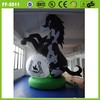 Hot selling attrative black durable good inflatable horse advertising