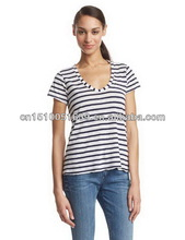 Garment factory women fashion t shirt with regular fit
