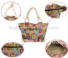 Women's canvas bag shopping handbags fashion extra large beach bags tote bag