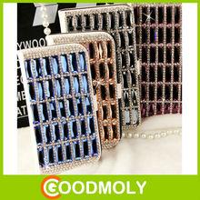 Fashion Luxury flip diamond bling leather case for samsung galaxy