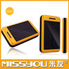 2014 High capacity portable solar mobile phone charger 10000mah for ipad