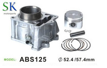 Hot Ssale and shock price Motorcycle cylinder Kit MODEL ABS 125 DIA52.4 57.4mm