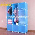 Nuevo modelo de alta calidad de simple diseño de yiwu de mdf de madera contrachapada& stand- up& armario armario de ropa